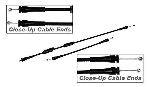 Ford E250 Cargo Van (APDTY 035462 Door Latch Cable Set Fits Rear Right Passenger-Side Cargo Door 92-13 Ford E Series Econoline E150 E250 E350 E450 E550 Van; See Description (Replaces Ford 8C2Z15431A02C, 8C2Z-15431-A02-C))
