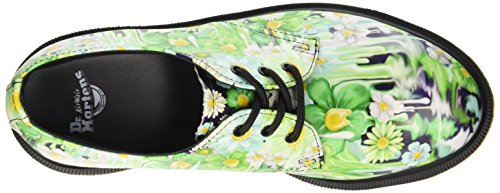 Dr. Martens Damen 1461 Slick Backhan Brogue-Schuhe Multicolore (Green Paint)