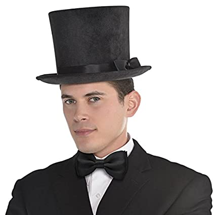 fecd528b351 Image Unavailable. Image not available for. Color  Amscan Deluxe Black Top  Hat Costume Accessory
