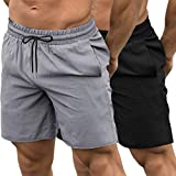 COOFANDY Men's 2 Pack Gym Workout Shorts Quick Dry