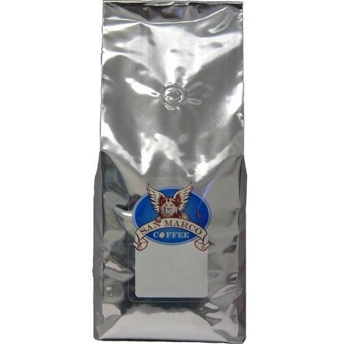 (San Marco Coffee Flavored Ground Coffee, Strawberry Wave Cheesecake, 2 Pound)