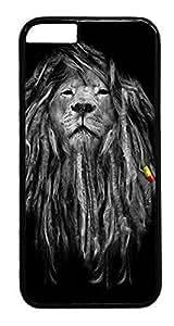 iPhone 6 Case, Rasta Lion Designer Rugged Hard Plastic Back Case Cover Protector for Apple iPhone 6(4.7INCH) PC Black