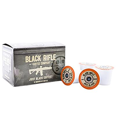 """Black Rifle Coffee Company JB """"Just Black"""" Coffee Rounds for Single Serve Brewing Machines (12 ct)"""