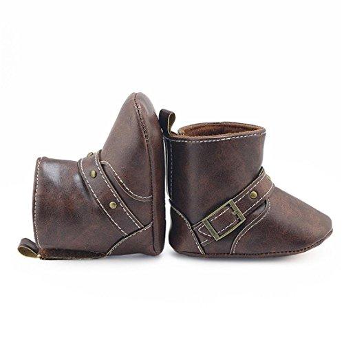 Clode® Kleinkind Neugeborene Baby Girl Krippe Stiefel Weiche Sole Stiefel Prewalker Warm Schuhe Kaffee
