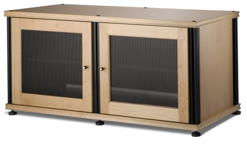 Maple Wide Tv Stand (Salamander Synergy 221 Two-Shelved A/V Cabinet (Maple/Black))