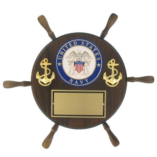 United States Navy Shipwheel Plaque