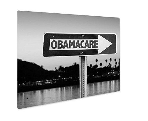 Ashley Giclee Obamacare Direction Sign  Wall Art Photo Print On Metal Panel  Black   White  8X10  Floating Frame  Ag6456538