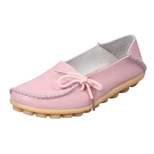 Flat 3 colore Con Pelle A Uk In Eleganti Da Shoe Lacci Bassa Donna Dimensione Rosa Mocassini Vita Z7Zxr