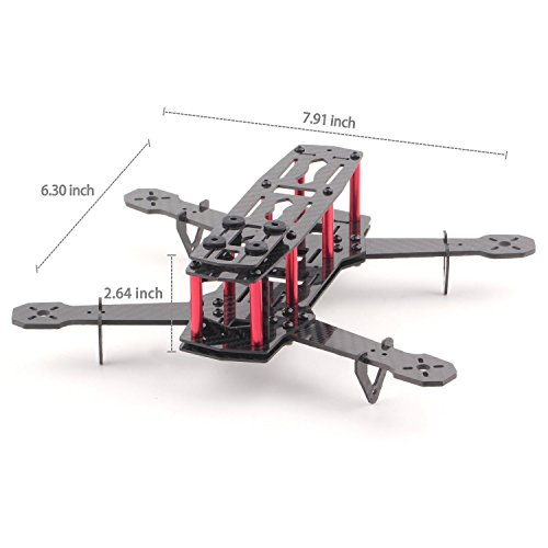 YKS DIY Full Carbon Fiber Mini C250 Quadcopter Frame Kit for FPV Mini Quadcopter Part