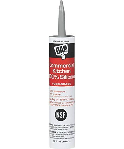 Dap 08660 9.8 oz. Commercial Kitchen 100% Silicone Sealant, Stainless Steel