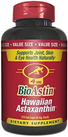 BioAstin Hawaiian Astaxanthin 4mg, 270 Count – Hawaiian Grown Premium Antioxidant – Supports Recovery from Exercise Joint, Skin, Eye Health Naturally