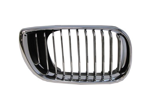 Bmw 3 Series 02-05 Right Front Grille Car Chrome (Chrome Front Grille)
