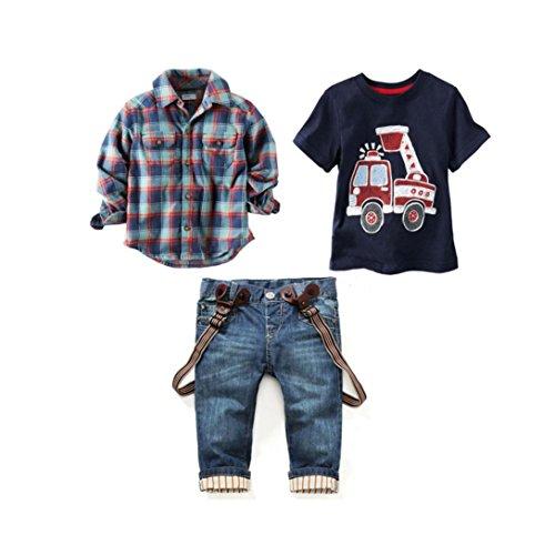 Plaid Boys T-Shirt - 3
