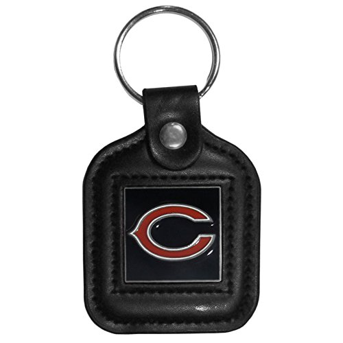 NFL Chicago Bears Square Leatherette Key Chain