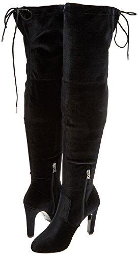 Elastic Damen Velvet Schwarz Maria Mare C35203 Stiefeletten Chanty Negro Y5qq67w