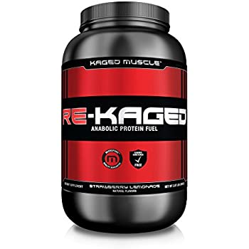 RE-KAGED Post Workout Whey Protein Powder – Strawberry Lemonade – 20 Servings – BCAAs + Creatine + Glutamine + Betaine – Build Muscle Faster + Recover Stronger*