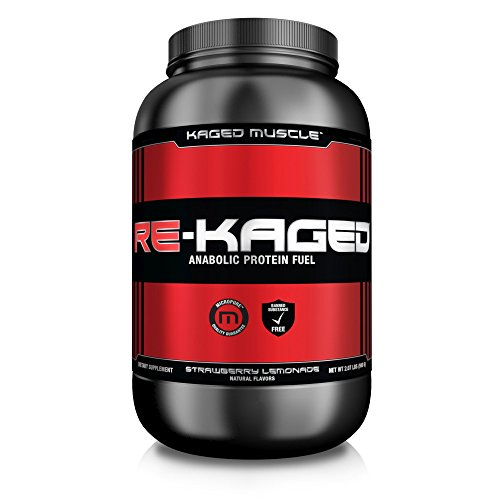 Kaged Muscle Re-Kaged Post Workout Recovery Fuel, Strawberry Lemonade, 20 Count