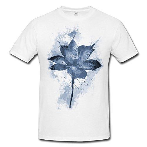 Blume VI Herren T- Shirt , Stylisch aus Paul Sinus Aquarell Cyan