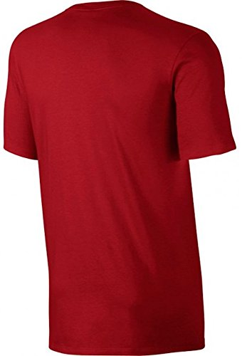 Uomo Rosso Sport Embrd Club Nike Red Nsw Tee sport Maglietta White Ftra M HFBpq0