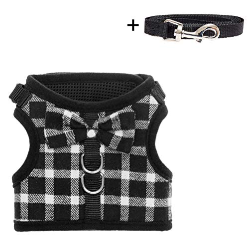 BINGPET Escape Proof Cat Harness - Adjustable Vest and Leash Set (Knot Adjustable Closure)