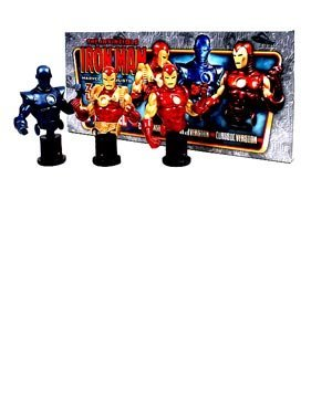 Bowen Designs: Marvel > Invincible Iron Man (Stealth, Classic And 2020) Mini-Bust 3-Pack by Puzzle Zoo