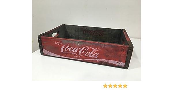 Vintage Retro Original Coca Cola caja de madera caja de madera: Amazon.es: Hogar