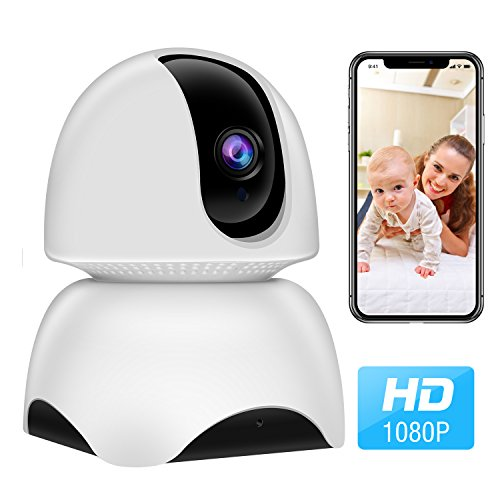 WiFi Camera, 1080P Wireless IP Home Security Surveillance Camera for Pet/Nanny/Elder/Baby Monitor with Pan/Tilt/Zoom, Two Way Audio, Night Vision and Motion Detection by Modernway
