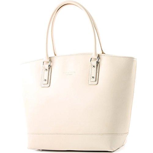Shopping Italiana Mano In A Bag Vera T27 Borsa Cremebeige Pelle Donna Tracolla xzTSnqYw