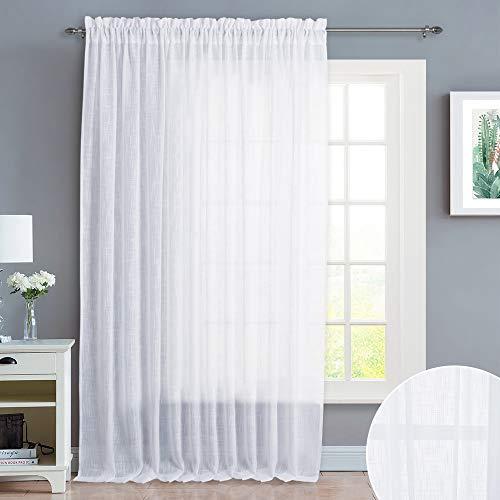 (NICETOWN Linen-Like Textured Sheer Curtains - 100