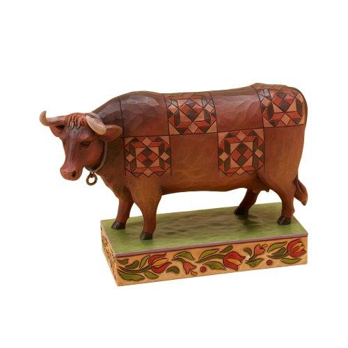 Enesco Jim Shore Williamsburg Cow Figurine, 4-3/4-Inch (Colonial Shore Jim)