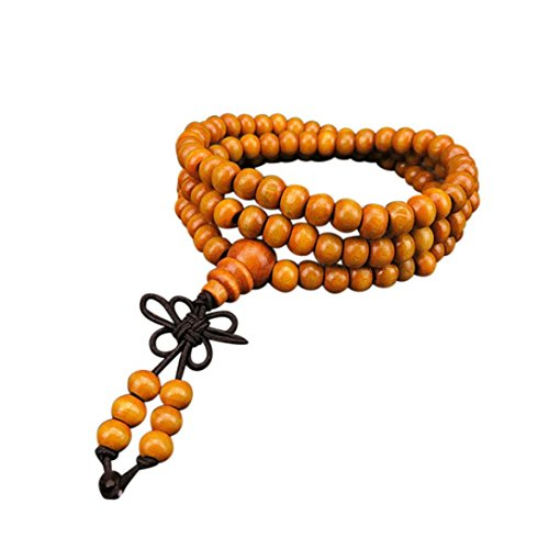 - Mr.Macy Hot Sale 6mm Natural Sandalwood 108 Wooden Prayer Beads Bead Bracelet Jewelry (D)