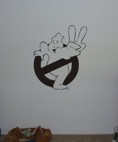 Ghostbuster Decal Sticker Wall No Ghost Allowed Peace Sign Child Boy