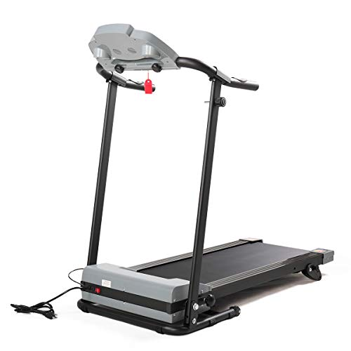 BWM.Co 2.0HP Folding Treadmill Gym/Home Fitness Exercise Machine w/Safe Key LCD Display, IPad Holder