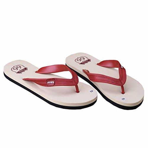 SHOBDW-Chanclas de Hombre Casual de Sandalias para Hombre de Verano de playa Havaianas Rojo