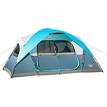 Timber Ridge Large Family Tent for C&ing with Carry Bag 2 Rooms  sc 1 st  Amazon.com & Amazon.com : Ancheer Family Tent 2 Room 2-4 Person Waterproof ...