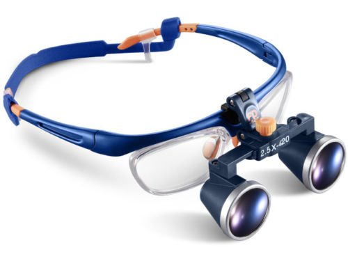 Zgood Portable Medical Magnifier Binocular Galileo Frame Loupe Glasses FD-503G 2.5 X 420mm