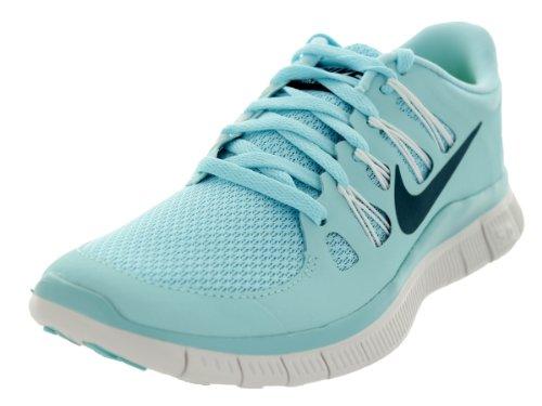 Nike Women's Wmns Free 5.0, GLACIER ICE/NIGHT FACTOR-SUMMIT WHITE, 10 M US