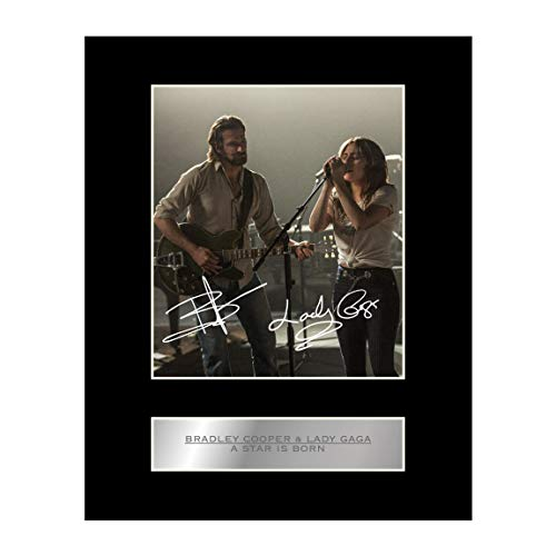 - Bradley Cooper and Lady Gaga Signed Mounted Photo Display A Star is Born Autographed Gift Picture Print