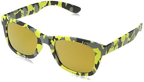 Police S1944 50GE9G Wayfarer Sunglasses - Yellow Camoufla...