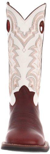 Tony Lama Bottes Hommes Rr4007 Botte Redwood Oiltan / Blanc Baron Veau
