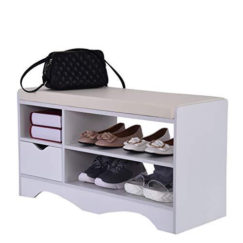 Amazon.com: Banco para zapatos, 2 niveles, para entrada ...
