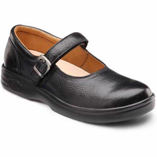 Dr. Comfort Vrolijke Dames Therapeutische Extra Diepe Schoen Lycra Velcro Zwart