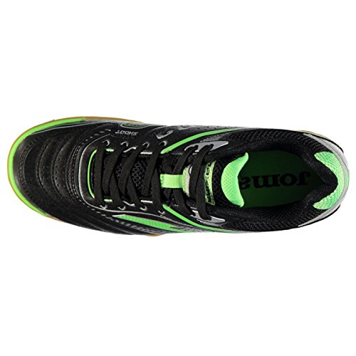 Joma - Botas de fútbol de Material Sintético para hombre Black/Green/Smu
