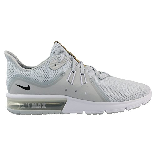 Nike Air Max Sequent 3 Mens Kör Ren Platina / Svart / Vit