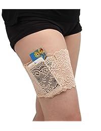 TAKIYA Womens Lace Non-slip Thigh Garter Purse Phone Security Pockets