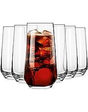 KROSNO Höga Dricksglas för Vatten och Juice   480 ML   Splendour-samlingen   Hiball & Tumbler Crystal Glass   Perfekt för hem, restauranger och fester   Diskmaskin och mikrovågsugn säker