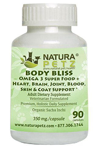 Natura Petz Organics Body Bliss Omega 3 Super Food + Heart/Brain/Joint/Blood/Skin & Coat Adult Formula for Pet by Natura Petz Organics