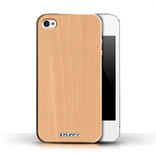 Kobalt® protector duro de nuevo caso / cubierta para el Apple iPhone 4/4S   Haya Diseño   Efecto de grano de madera/patrón colección