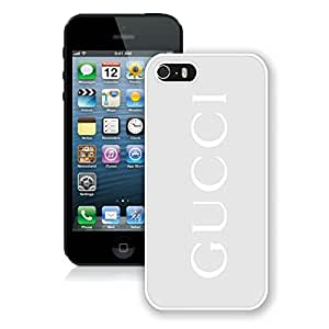 Unique And Luxurious Custom Designed Cover Case For iPhone 5 With GU CCI 36 White Phone Case