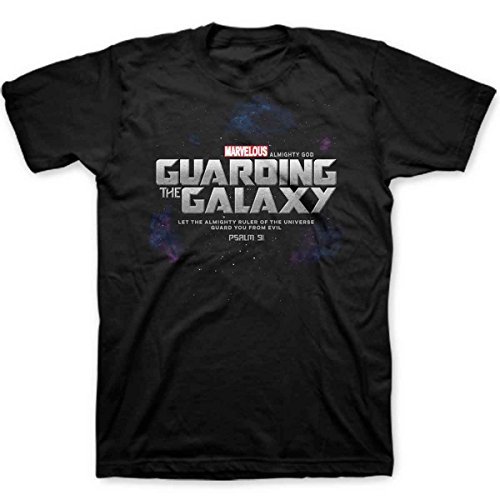 - Kerusso Guarding The Galaxy, Tee, XL, Black - Christian Fashion Gifts